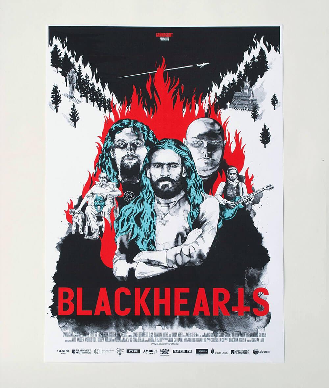 BLACKHEARTS.SILKSCREENPOSTER.FOTO